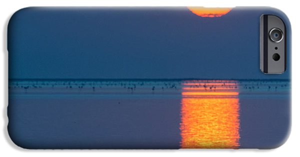 Flamingo iPhone Cases - Sunset Over Walvis Bay iPhone Case by Duane Miller