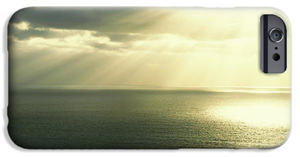 Ocean Sunset iPhone Cases - Sunset Pacific Ocean San Diego Ca Usa iPhone Case by Panoramic Images
