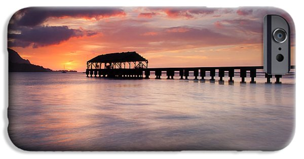Pier iPhone Cases - Sunset Pier iPhone Case by Mike  Dawson
