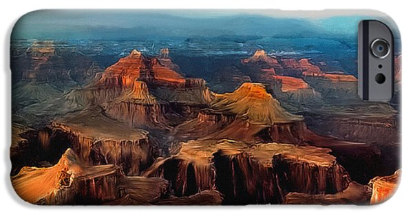 Grand Canyon iPhone Cases - Sunset Powell Memorial Grand Canyon South Rim iPhone Case by  Bob and Nadine Johnston
