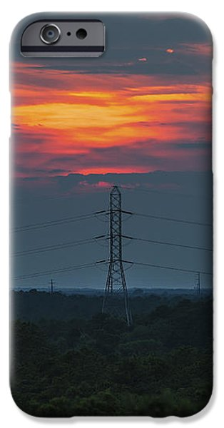 Sunset Power Over Pine Barrens NJ iPhone Case by Terry DeLuco