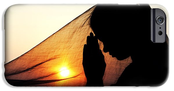 Innocence Photographs iPhone Cases - Sunset Prayers iPhone Case by Tim Gainey