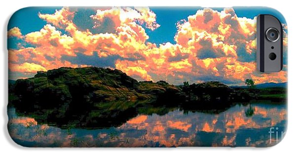 Prescott iPhone Cases - Sunset Reflection iPhone Case by Stephen Schwartzengraber