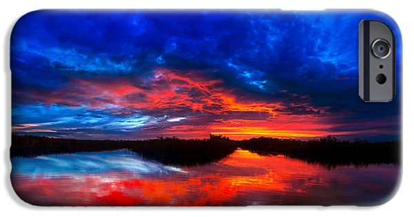 Beauty Mark iPhone Cases - Sunset Reflections iPhone Case by Mark Andrew Thomas