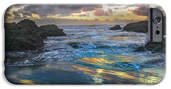 Drama iPhone Cases - Sunset Reflections iPhone Case by Robert Bales