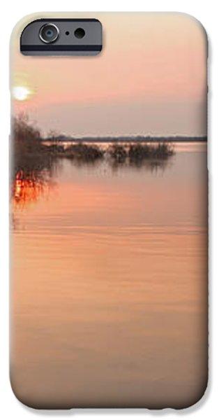 Sunset  river panorama iPhone Case by Vitaliy Gladkiy