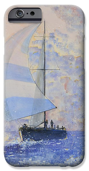 Sailing iPhone Cases - Sunset Sail iPhone Case by Peter Freischlag