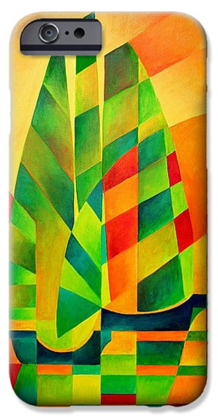 Sunset Sails and Shadows iPhone Case by Tracey Harrington-Simpson