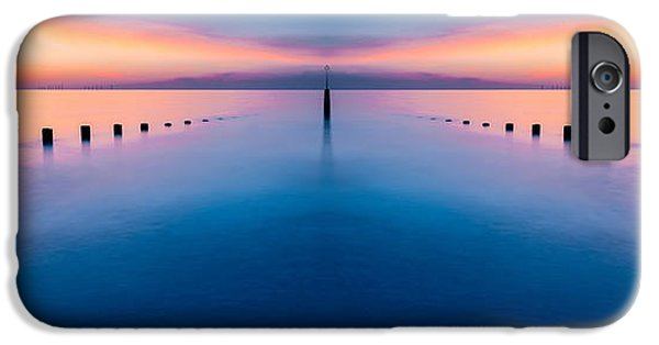 Turbines iPhone Cases - Sunset Seascape III iPhone Case by Adrian Evans