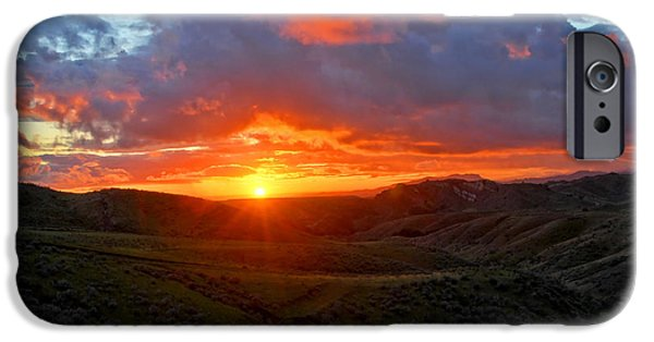 Drama iPhone Cases - Sunset Serenade - Fine Art by Lynn Bauer iPhone Case by Lynn Bauer