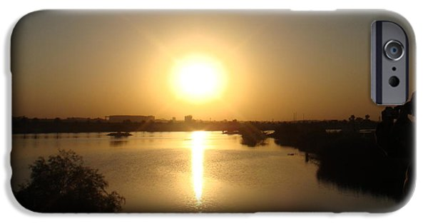 Baghdad iPhone Cases - Sunset iPhone Case by Sharla Fossen