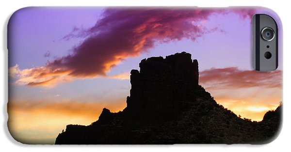 Sedona iPhone Cases - Sunset Silhouette iPhone Case by Mountain Dreams