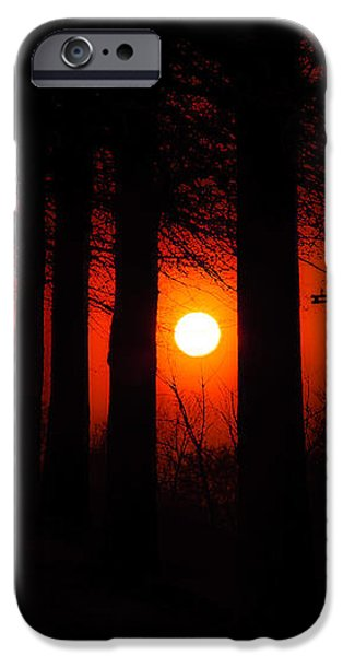 Sunset Silhouette Painterly iPhone Case by Andee Design