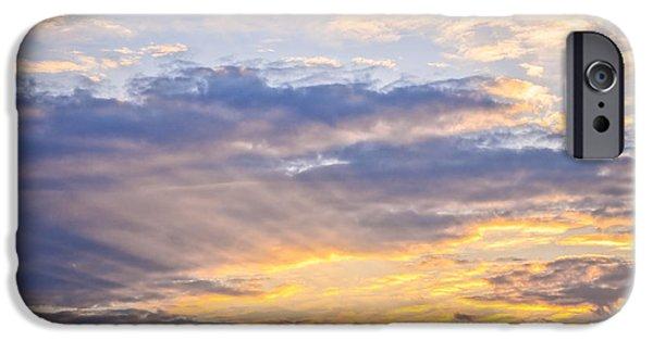 Turbulent Skies iPhone Cases - Sunset sky iPhone Case by Elena Elisseeva