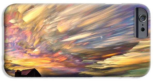 Love Digital Art iPhone Cases - Sunset Spectrum iPhone Case by Matt Molloy