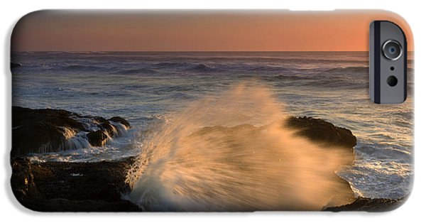 Spray iPhone Cases - Sunset Tide Explosion iPhone Case by Mike  Dawson
