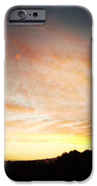 Sunset triptych iPhone Case by Les Cunliffe
