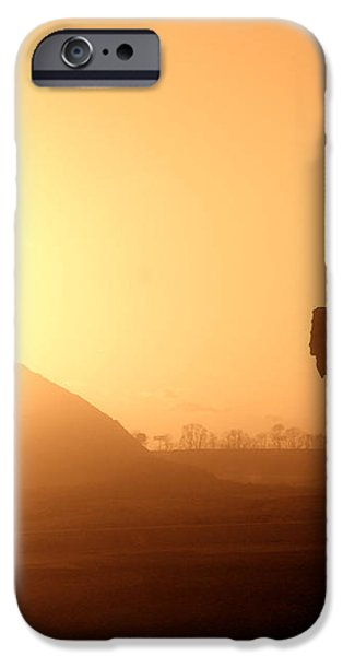 Sunset Truck iPhone Case by Olivier Le Queinec