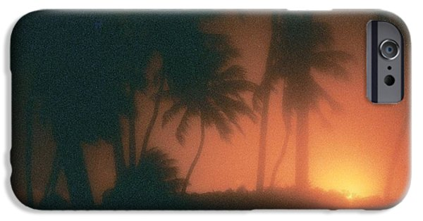 Film Pyrography iPhone Cases - Sunset iPhone Case by Van Souza