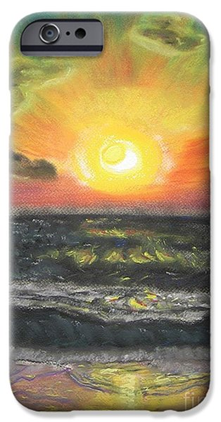 Sun Rays Pastels iPhone Cases - Sunset iPhone Case by Victor Berelovich