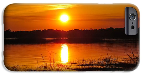 Summer iPhone Cases - Sunset walk in the water iPhone Case by Zina Stromberg