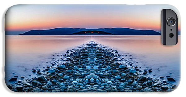 Coastline Digital Art iPhone Cases - Sunset Way iPhone Case by Adrian Evans