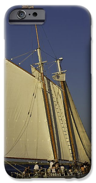 Windjammer iPhone Cases - Sunset windjammer cruise iPhone Case by David Freuthal