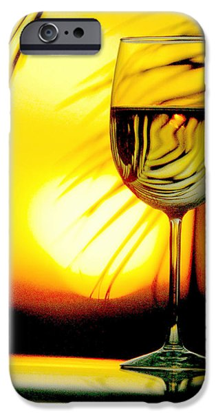Wine Bottles iPhone Cases - Sunset Wine iPhone Case by Jon Neidert