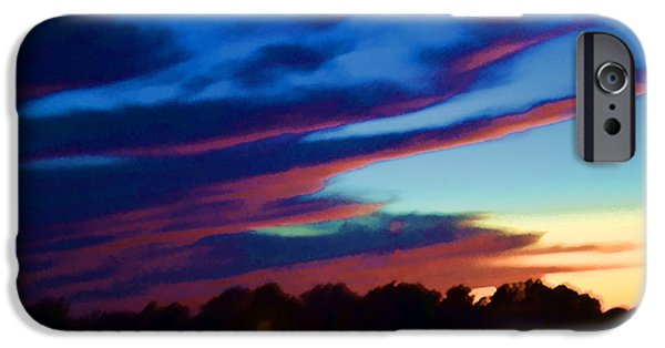 Drama iPhone Cases - Sunsets Fleeting Daylight iPhone Case by Luther   Fine Art