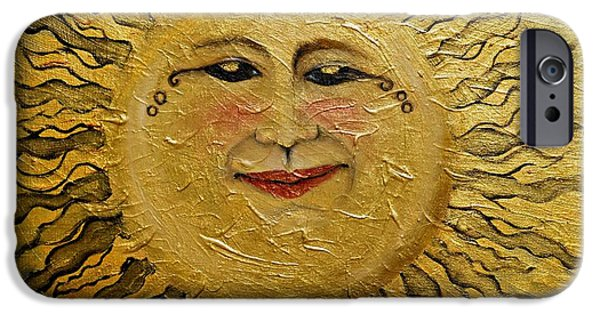 Sun Rays Paintings iPhone Cases - Sunshine 2012 iPhone Case by Leandria Goodman