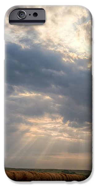 Sunshine and Hay Bales iPhone Case by Scott Bean