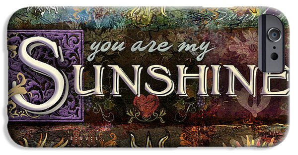 Sun Rays Digital iPhone Cases - Sunshine iPhone Case by Evie Cook