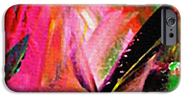 Garden Scene Paintings iPhone Cases - Sunshine In The Garden iPhone Case by Kume Bryant