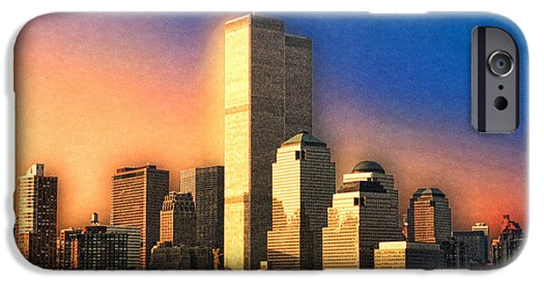 Twin Towers Nyc iPhone Cases - Sunswept iPhone Case by Joann Vitali