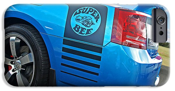 Super Bee iPhone Cases - Super Bee Dodge Charger SRT8 iPhone Case by Gill Billington