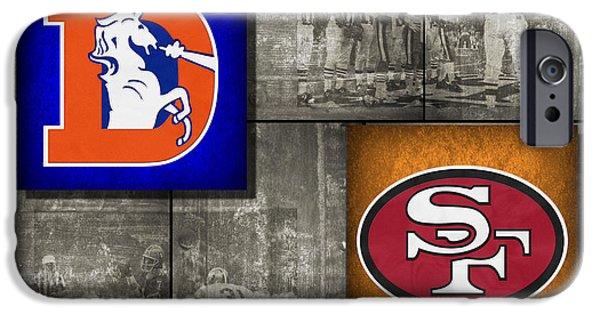 Broncos iPhone Cases - Super Bowl 24 iPhone Case by Joe Hamilton