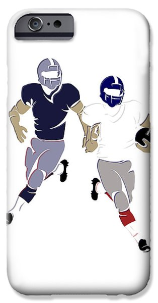 Patriots iPhone Cases - Super Bowl 46 Patriots Vs Giants iPhone Case by Joe Hamilton