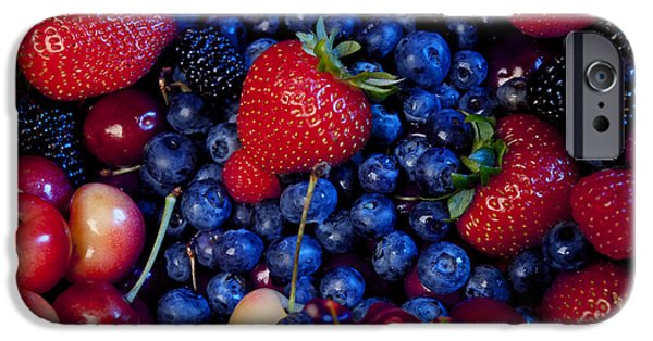 Blueberry iPhone Cases - Super Healthy iPhone Case by Alixandra Mullins