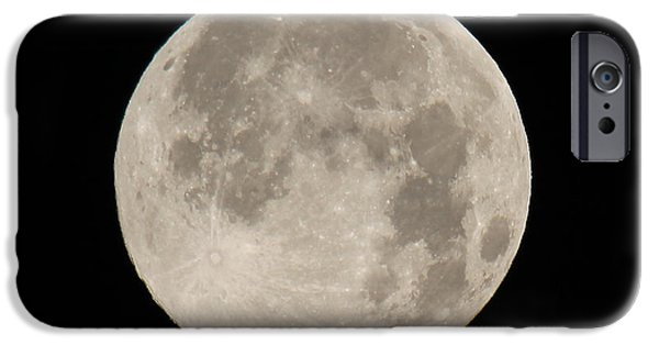 Disc iPhone Cases - Super Moon 2013 iPhone Case by Bob Hislop
