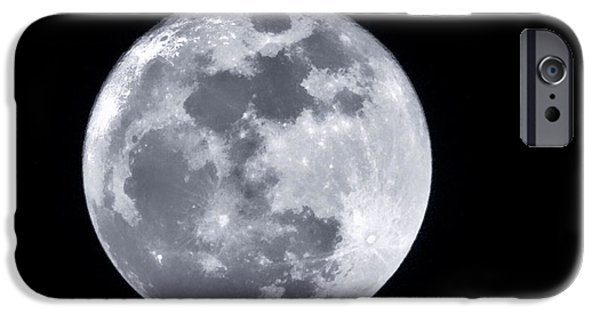 Moonscape iPhone Cases - Super Moon Over Arizona  iPhone Case by Saija  Lehtonen