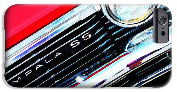 Buying Online Digital Art iPhone Cases - Super Sport 2 - Chevy Impala Classic Car iPhone Case by Sharon Cummings