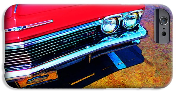 Buying Online Digital Art iPhone Cases - Super Sport 3 - Chevy Impala Classic Car iPhone Case by Sharon Cummings