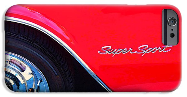 Buying Online Digital Art iPhone Cases - Super Sport - Chevy Impala Classic Car iPhone Case by Sharon Cummings
