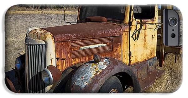 Truck iPhone Cases - Super White Truck iPhone Case by Garry Gay