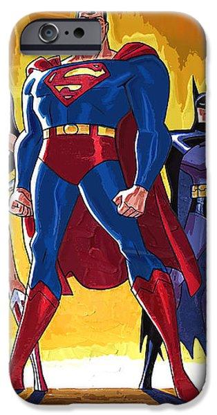 Superheroes iPhone Case by Victor Gladkiy
