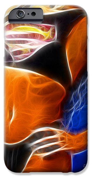 Supergirl Digital iPhone Cases - Superman 1 Fractal iPhone Case by Gary Gingrich Galleries