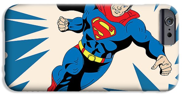 Young Digital Art iPhone Cases - Superman 8 iPhone Case by Mark Ashkenazi