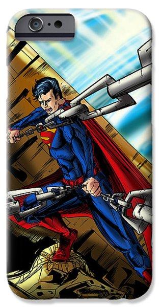 Superman iPhone Case by Alexiss Jaimes