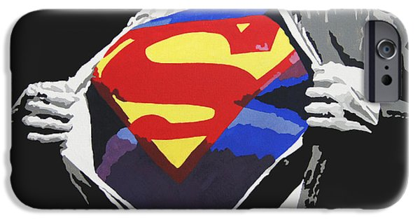 Comics iPhone Cases - Superman iPhone Case by Erik Pinto