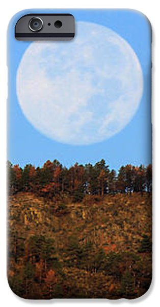 Supermoon Set iPhone Case by Emily Clingman